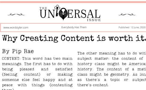 Why creating content is worth it.