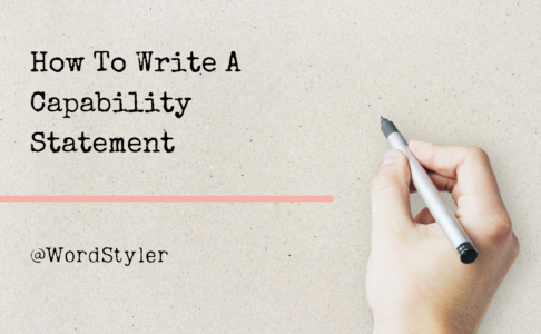 How to Write a Good Capability Statement
